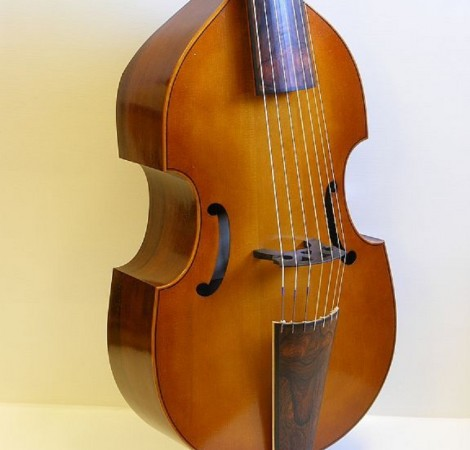 Seven string bass viol after Romain Cheron